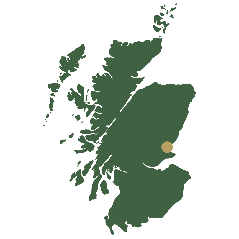 Map of Scotland showing Fife