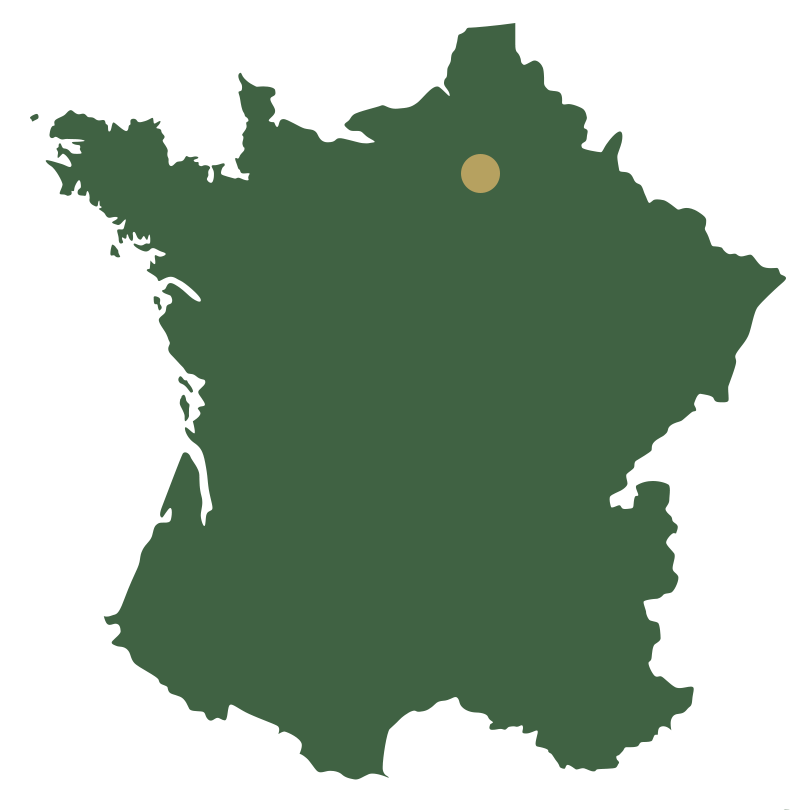 Map of France showing Paris