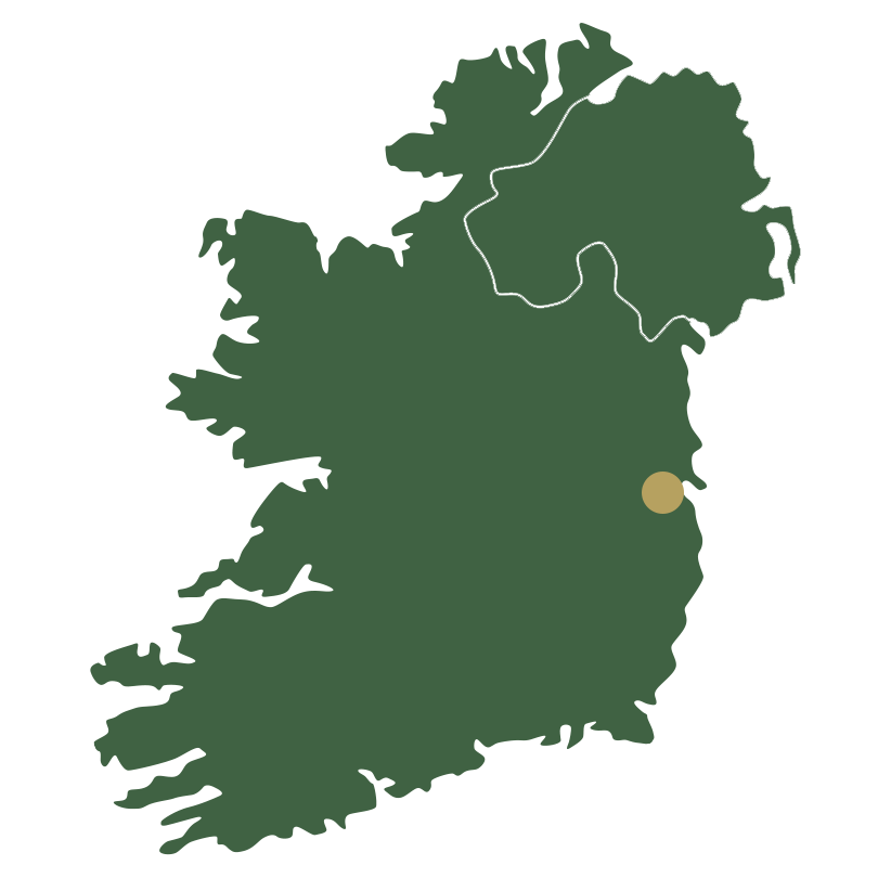 Map of Ireland showing Dublin