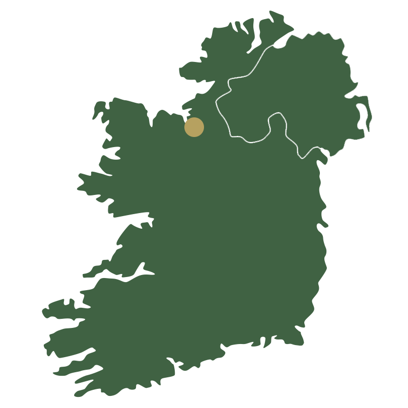Map of Ireland showing North West
