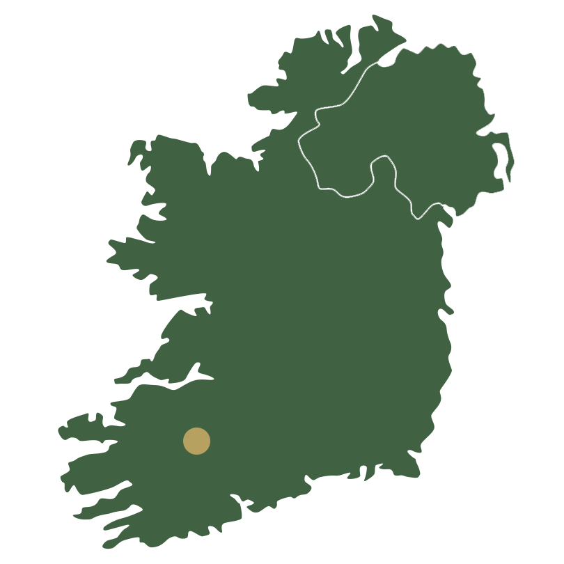 Map of Ireland showing South and South West